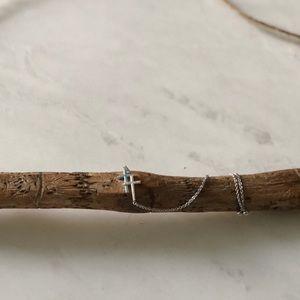 Jewelry - DELICATE DOUBLE CROSS FRIENDSHIP BRACELET